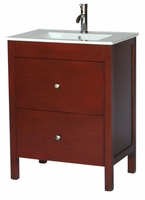 "28 inch 18 inch Deep Bathroom Vanity Modern Style Cherry Color (28""Wx18""Dx36""H) S3022F"