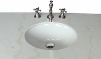 """34 inch Bathroom Vanity Cottage Beach Style Vintage Cream Color (34""""Wx21""""Dx35""""H) CHF081WP"""