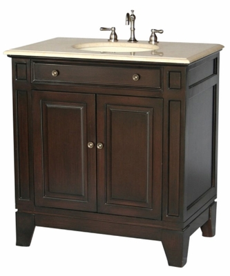 "34 inch Bathroom Vanity Contemporary Style Espresso Color (34""Wx21""Dx36""H) S2407ESBE"