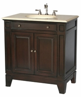 "34 inch Bathroom Vanity Contemporary Style Dark Coffee Color (34""Wx21""Dx36""H) S2407ESBE"