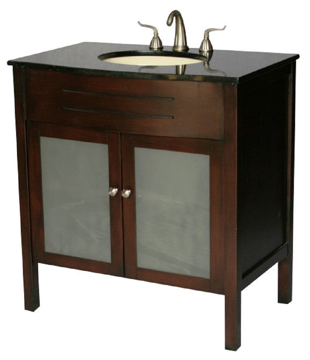 34 Inch Bathroom Vanity Contemporary Style Cherry Color Wx22 Dx36 H Ss3020s
