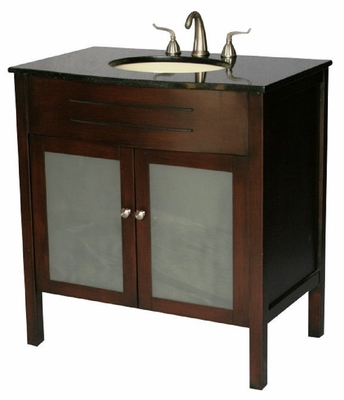 "34 inch Bathroom Vanity Contemporary Style Cherry Color (34""Wx22""Dx36""H) SS3020S"