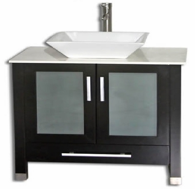 "36 inch Bathroom Vanity Ceramic Vessel Sink Top Style Espresso (36""W x18""Dx34""H) ADRIAN 36EC"