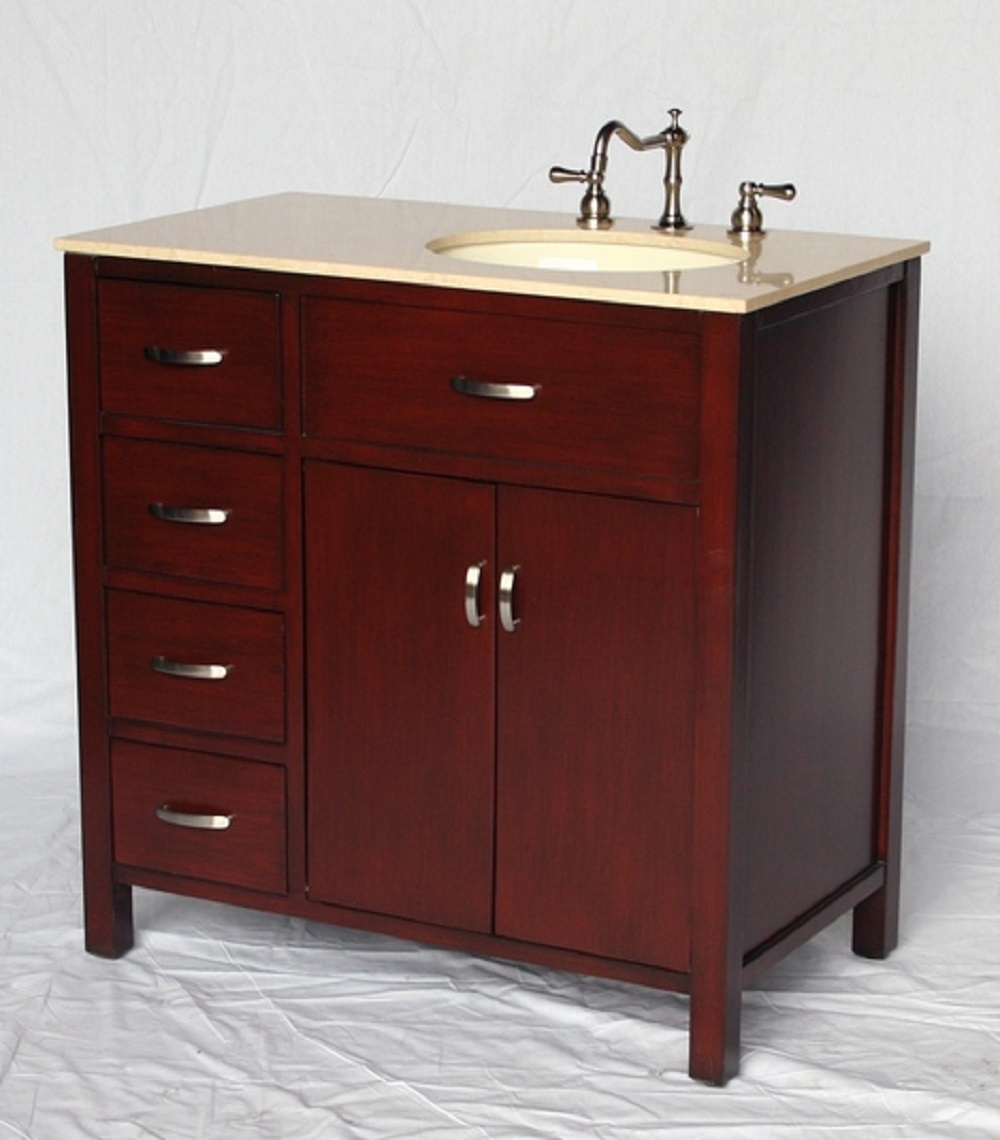36 inch bathroom vanity with sink on the right side - Bathroom vanity with drawers on left ...