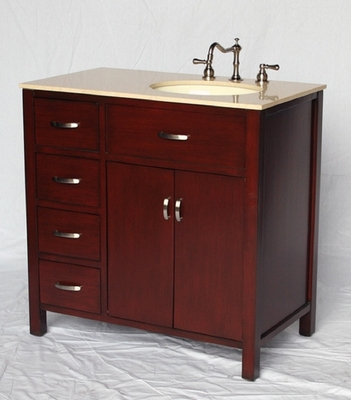 "36 inch Bathroom Vanity With Sink On The Right Side Drawers on The Left (36""Wx21""Dx36""H) S2277"