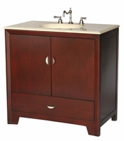 "36 inch Bathroom Vanity Contemporary Style Cherry Color (36""Wx21""Dx36""H) S2413FBE"