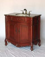 "36 inch Bathroom Vanity Traditional Classic Style Cherry Color (36""Wx21""Dx36""H) S2233505MXC"