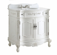 "36 inch Bathroom Vanity Traditional Style Antique White Color (36x21x35""H) DCBC3905WAW36"