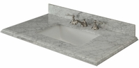 "37 inch Tobacco Contemporary Bathroom Vanity Carrara Marble Top  (37""Wx21.5""Dx35""H) CGD660236"
