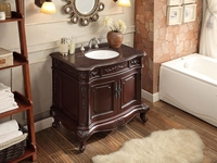 "37 inch Bathroom Vanity Rich Dark Cherry Finish (37""Wx22""Dx34""H) CGD9033V36"