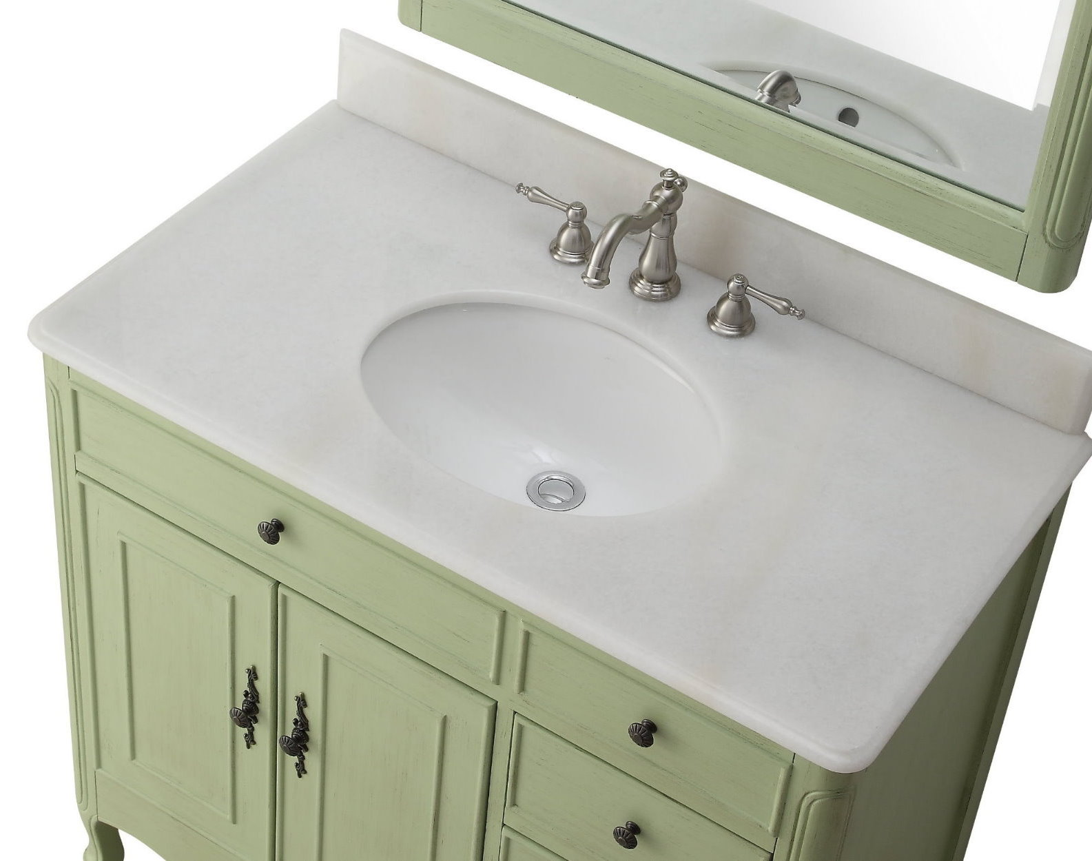 inch Bathroom Vanity with 4 Drawers on The Right Cottage Style