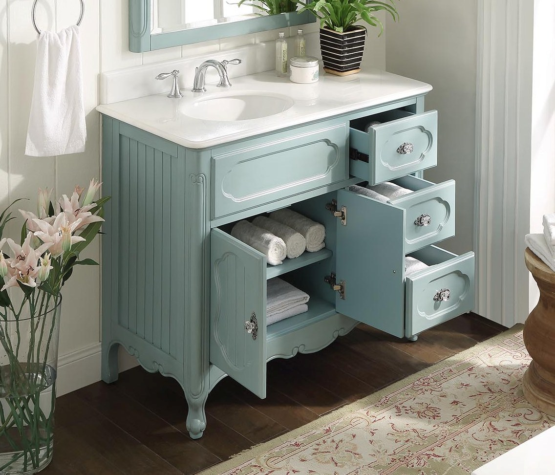 blue bathroom cabinet 42 inch bathroom vanity cottage beadboard style light blue 12119