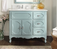 "42 inch Bathroom Vanity Cottage Beadboard Style Light Blue Color (42""Wx21""Dx35""H) CGD1509LB42"