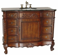 "45 inch Traditional Bathroom Sink Vanity Medium Mahogany Color (45""Wx22.25""Dx36""H) C6275GT"