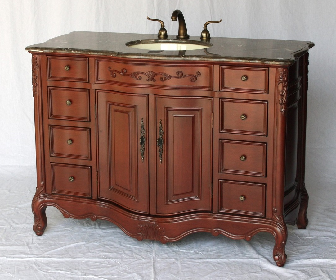 48 inch Bathroom Vanity Traditional Classic Style Cherry ...