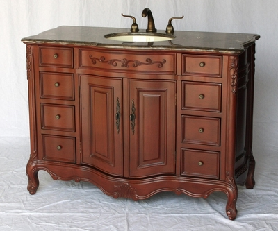 48 inch Bathroom Vanity Traditional Classic Style Cherry Color S2239230MXC