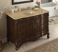 "48 inch Bathroom Vanity Traditional Style Dark Brown Color (48""Wx22""Dx35�H) CSW3882MTK48"