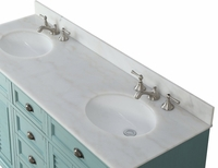 "62 inch Bathroom Vanity Coastal Cottage Beach Style Blue Color (62""Wx22""Dx36""H) CGD21888BU"