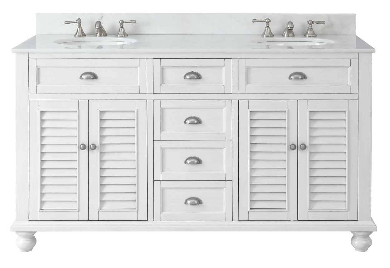 62 inch double sink bathroom vanity beach house snow white 62 wx22 dx36 h cgd21333 for 66 inch bathroom vanity cabinets