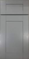 Ash Grey Bathroom Cabinets Shaker Style with Groove 100% Solid Wood