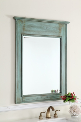 "Blue Mirror 24""W x 36.5""H FREE SHIPPING"