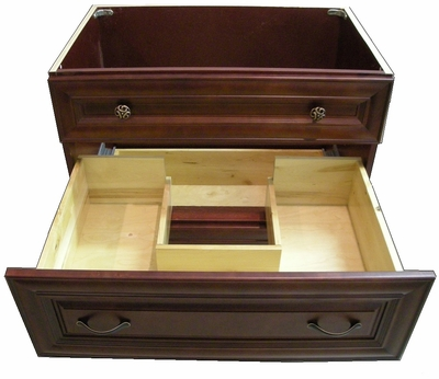 Custom Drawers Cut Out available for easy Plumbing access