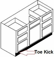 "Toe Kick 96"" (Lenght) x 4 1/2 (Height) x 1/8 (Thickness)"