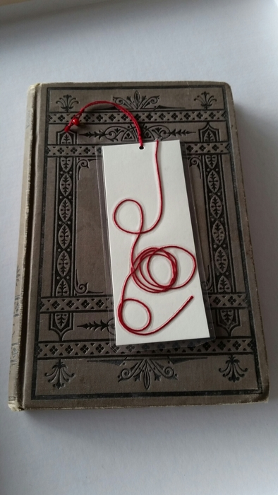 Beautiful Red String Bookmarks.