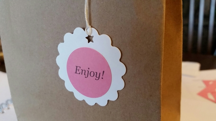 personalized gift tag - Round Tags