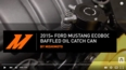 2015+ Ford Mustang EcoBoost Baffled Oil Catch Can, PCV Side Install Video