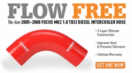 Flow Free – The New 2005–2008 Focus MK2 TDCi Silicone Turbo to Intercooler Hoses