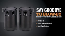 Say Goodbye to Blow-By � Mishimoto�s WRX/STI Baffled Oil Catch Cans