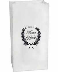 Custom Luminary Bag - Laurel Wreath (24 Count)
