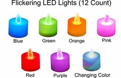 Flickering LED Lights  (12 Count)