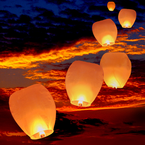 floating luminaries sky lanterns flying luminaries custom