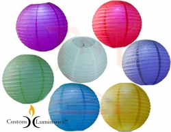 Hanging Round Lanterns - 7pc Mix with LED Lights