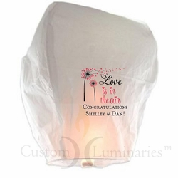 Personalized Sky Lanterns - Love Is In The Air