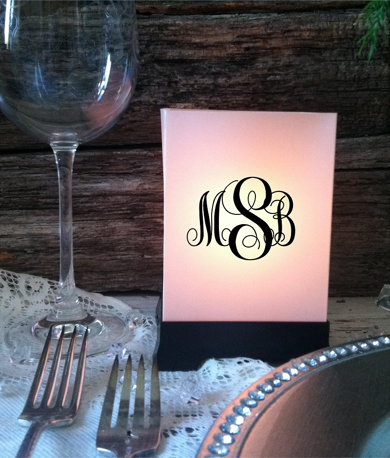 Custom Luminaries Wedding Centerpieces Personalized Party