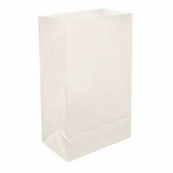 White Plastic Luminaries - 100 Count