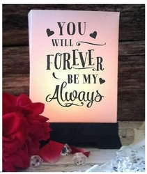 Wedding Luminaries - Forever Be My Always (24 Count)