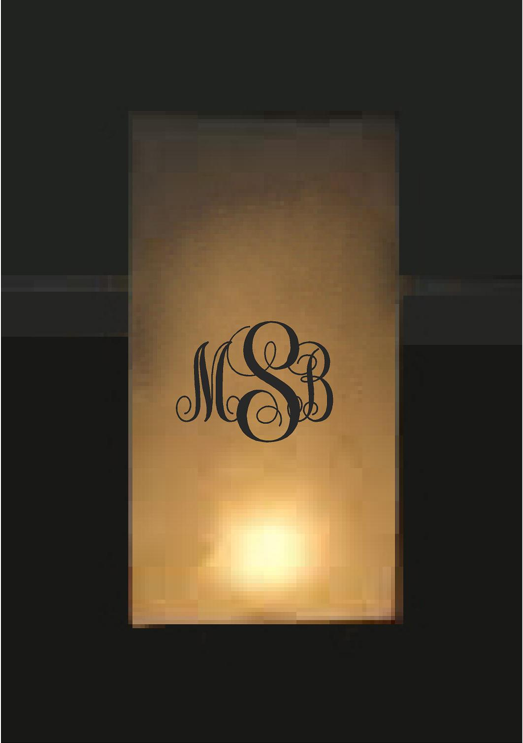 Monogrammed Luminary Bags 24 Count