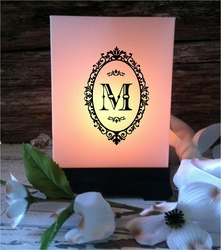 Wedding Luminaries - Monogrammed Centerpieces (24 Count)