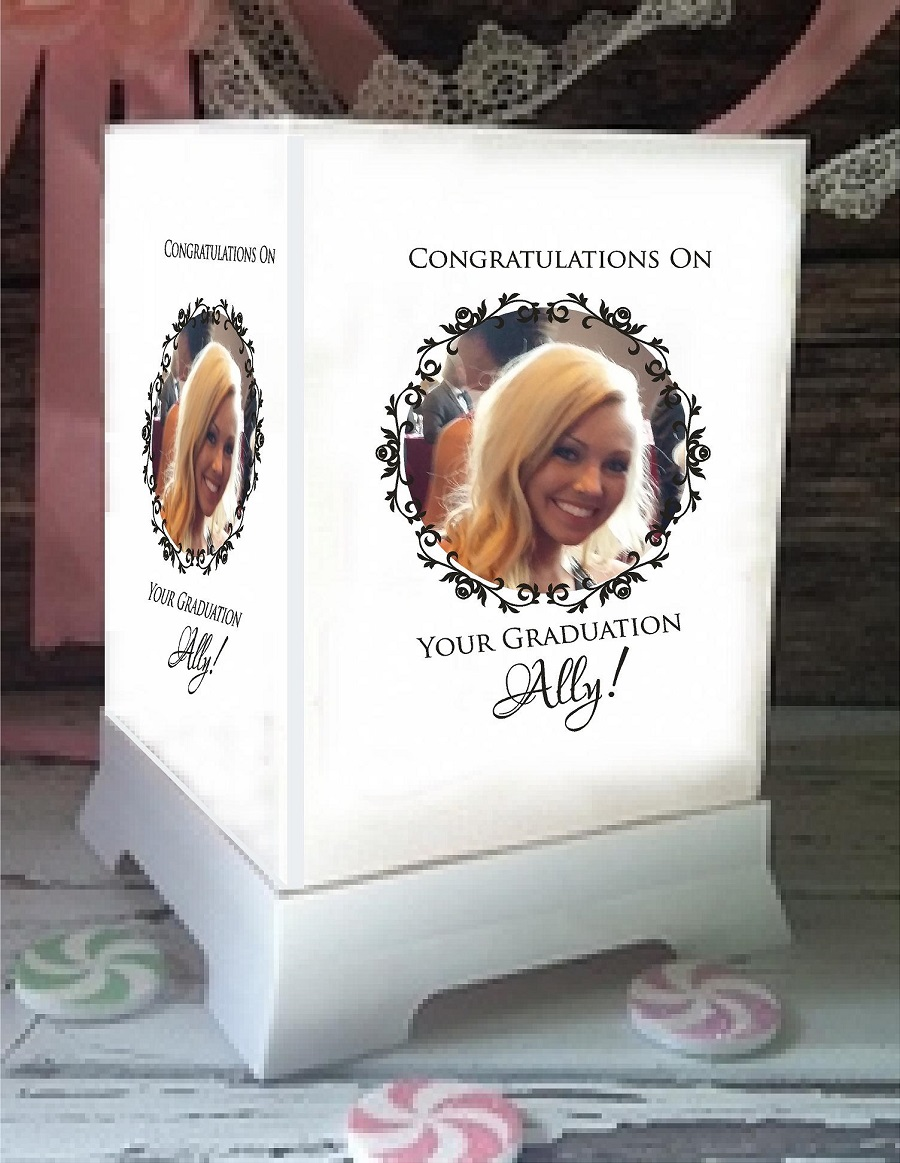 Graduation Party Luminary Custom Personalized Centerpiece