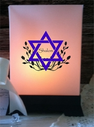 Luminary Centerpiece - Shalom (24 Count)