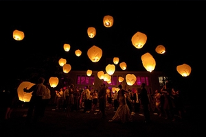 Floating Luminaries White Sky Lanterns Birthday Parties