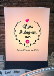 Wedding Luminaries - Social Media Hashtag (24 Count)
