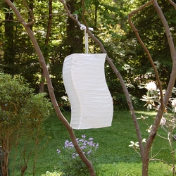 Twisted Paper Lantern WHITE 3ct