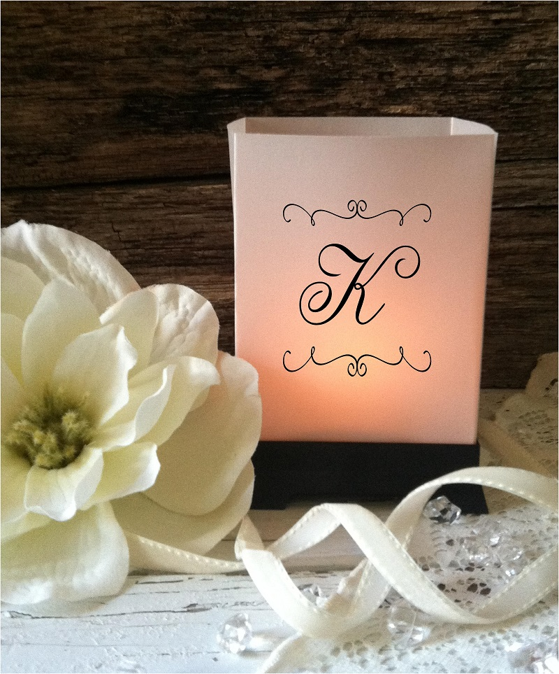 Wedding Luminaries Centerpieces Candles Personalized Lighting