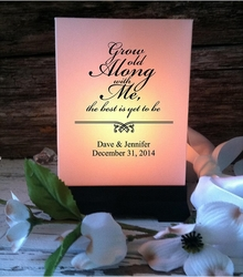 Wedding Luminaries - Grow Old Along With Me (12 Count)