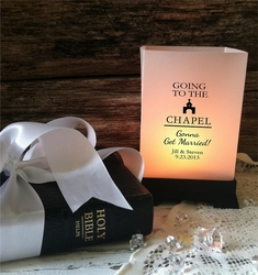 Tabletop Luminaries - Going to the Chapel (12 Count)